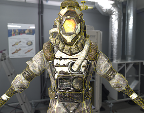 astronaut 3D model VR / AR ready PBR