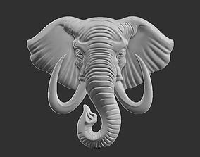 elephant head pendant mammal 3D printable model