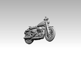 classic motorcycle relief 3D printable model