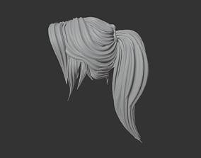 Stylized hair - pony tail - woman 3D