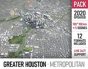 Greater Houston - metropolitan area 3D model