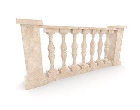 3D model ornamental Balustrade