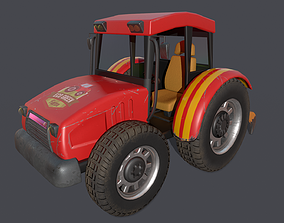 VR / AR ready Asset - Cartoons - Car - Bulldozer - 02