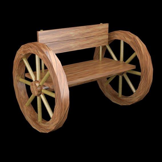 Wood settle