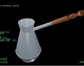 3D model Low poly Coffee Turk