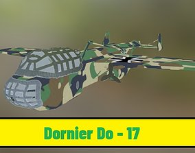 Dornier Do 17 - Luftwaffe - PBR textures 3D model
