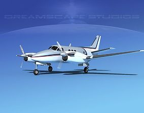 3D Beechcraft King Air 100 V04