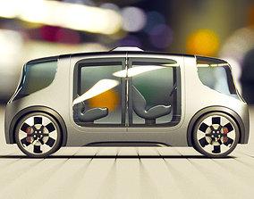 land rover jaguar Vector pod - electric car 3D model