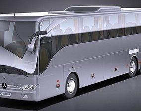 LowPoly Mercedes Tourismo 2013 3D asset
