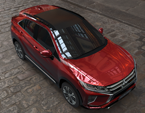 exterior mitsubishi eclipse cross several 3D model