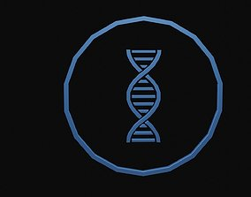 3D model Low poly dna symbol