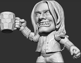 3D printable model the man drinks beer