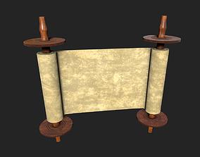Blank Scroll 3D model low-poly