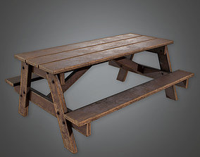 3D model CAM - Picnic Table - PBR Game Ready