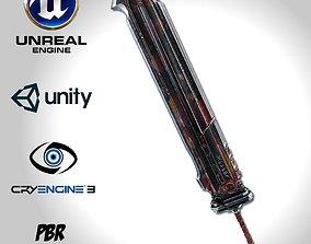 3D asset Heavy Full Metal Sword - Remake
