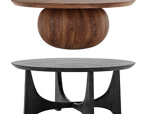 3D Wood Coffee Table West Elm