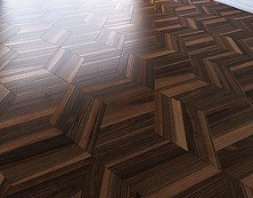 Parquet from hexagonal from rhombus 3D asset