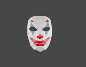 diy joker mask papercraft template 3D printable model