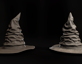 3D model game-ready Witch hat with 2 texture packs