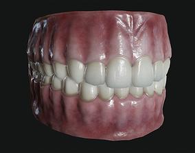 Teeth and tongue 3D asset