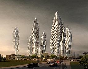 3D model Aristocratic Multiple Skyscrapers