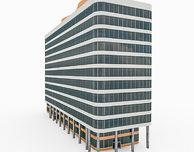 Realistic 3D model of City Office Building 2