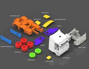 PRINTABLE MERCEDES-BENZ ACTROS 3D PRINT MODEL