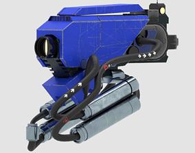 3D model sci -fi head robot