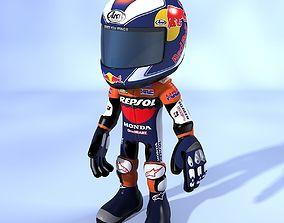3D model Cartoon Biker