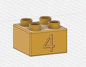 Lego Duplo compatible 2x2 4 3D printable model