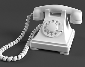Old Rotary Phone - Model Only 3D asset