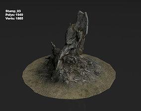 Photoscanned stump 03 3D model