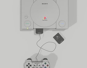 ps1 Playstation 1 - Joypad and Memory Card 3D model