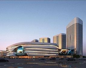 3D Supermarket group building