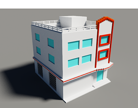 Voxel Miami Hotel 2 3D model