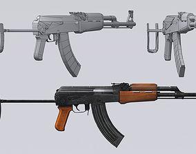 AKM assault rifle - 3D AK 47 Low-poly model realtime