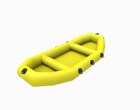 3D asset VR / AR ready rubber boat
