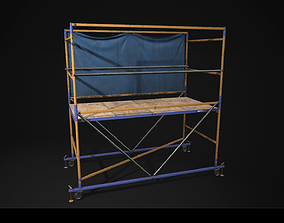 Scaffolding Low poly Game Ready PBR 3D asset