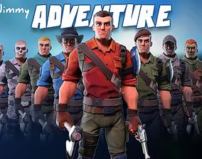 3D model Jimmy adventure - Stylized character
