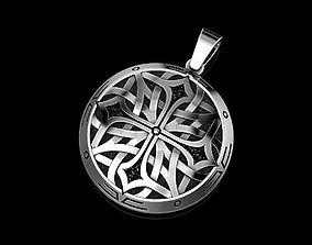 3D print model fashion Celtic pendant