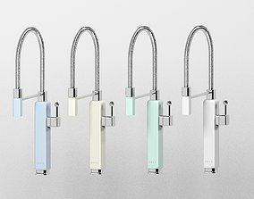 3D Smeg Retro Pullout Rinse Kitchen Sink Mixer faucets