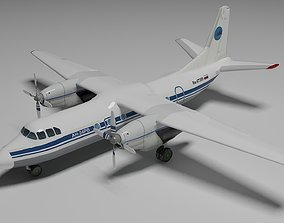 Antonov An-24 3D model animated
