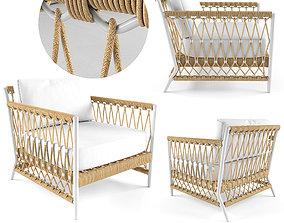 3D model Salt Creek Lounge Chair Serena Lily