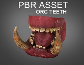 3D model WarCraft Orc Teeth Game Asset PBR