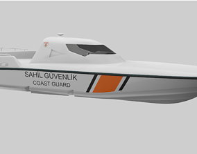 3D model Coast Guard Boat MRTP Kaan