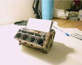 3D print model Business card holder engine ZR1 block V8