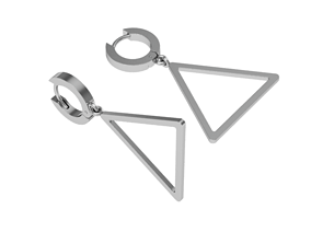 3D printable model Triangular earrings with pendant