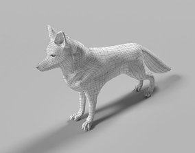 3D model Low poly FOX for animation