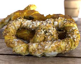 Pretzel - croissant dough 3D model