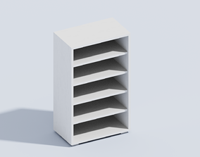 VOXEL BOOK SHELL T1 3D model